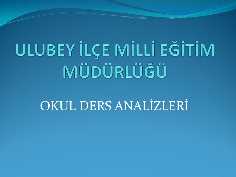 OKUL DERS ANALİZLERİ