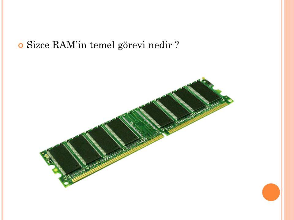 Sizce RAM'in temel görevi nedir
