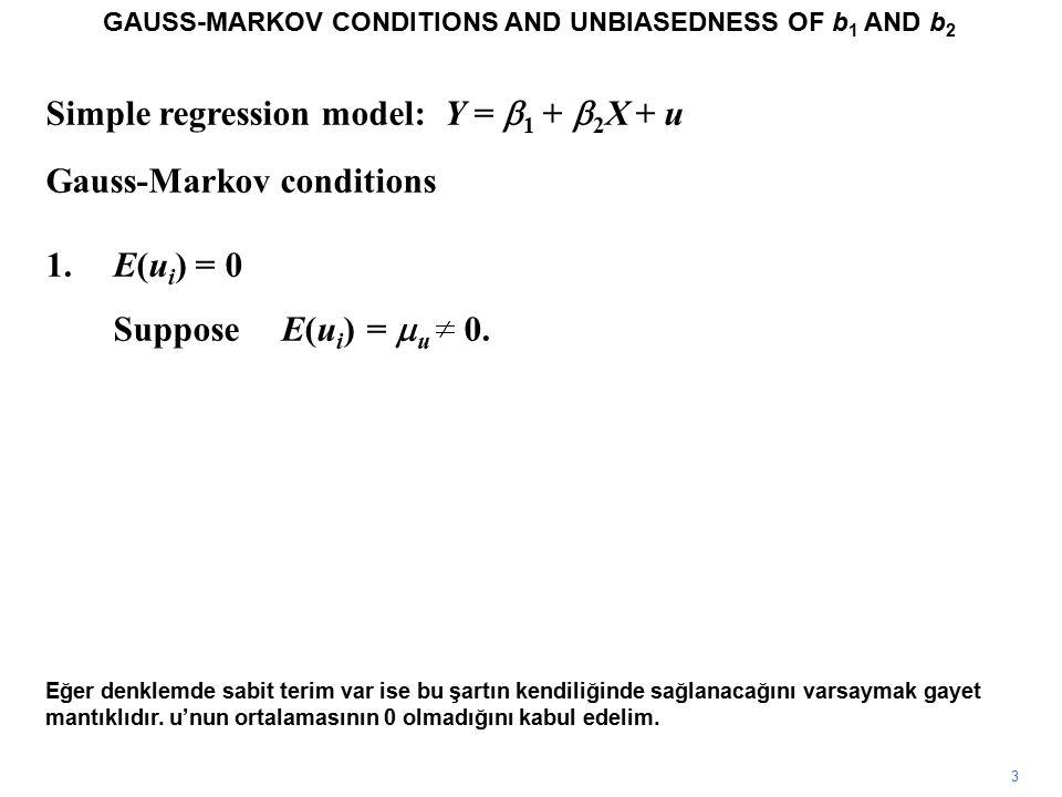 X2.0+0.5X u YX 2.0+0.5X u Y 111 212 313 414 515 616 717 818 919 1020 Y = 2.0 + 0.5X + u Burada keyfi birim esasına göre seçilen X değerleri vardır.