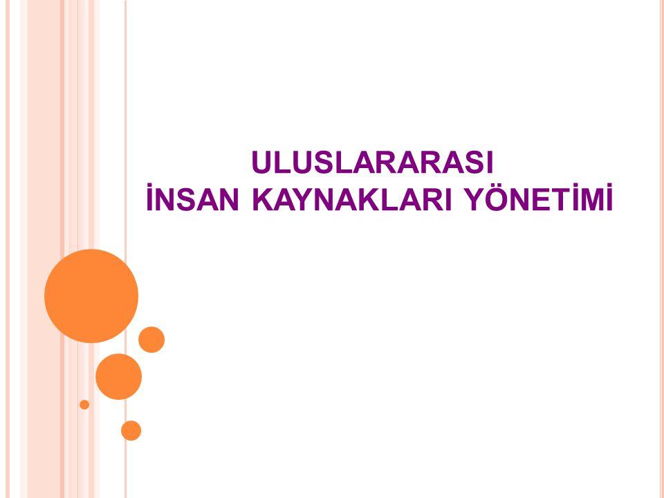 İÇERİK Uluslararası İşletmelerde İKY Süreci Uluslararası İşletmelerde Kadrolama Politikaları Uluslararası İşletmelerde İşe Alma Uluslararası İşletmelerde Eğitim ve Geliştirme Uluslararası İşletmelerde Performans Değerleme Uluslararası İşletmelerde Ücret Yönetimi Uluslararası İki Şirketin İncelenmesi