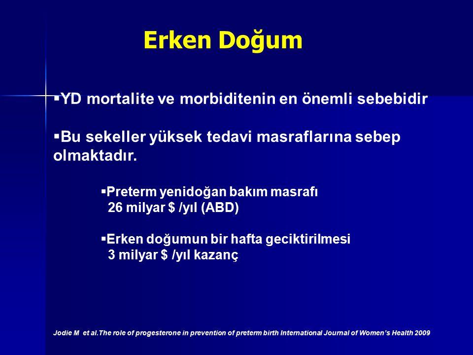 YD mortalite ve morbiditenin en önemli sebebidir  Bu sekeller yüksek tedavi masraflarına sebep olmaktadır.  Preterm yenidoğan bakım masrafı 26 mil