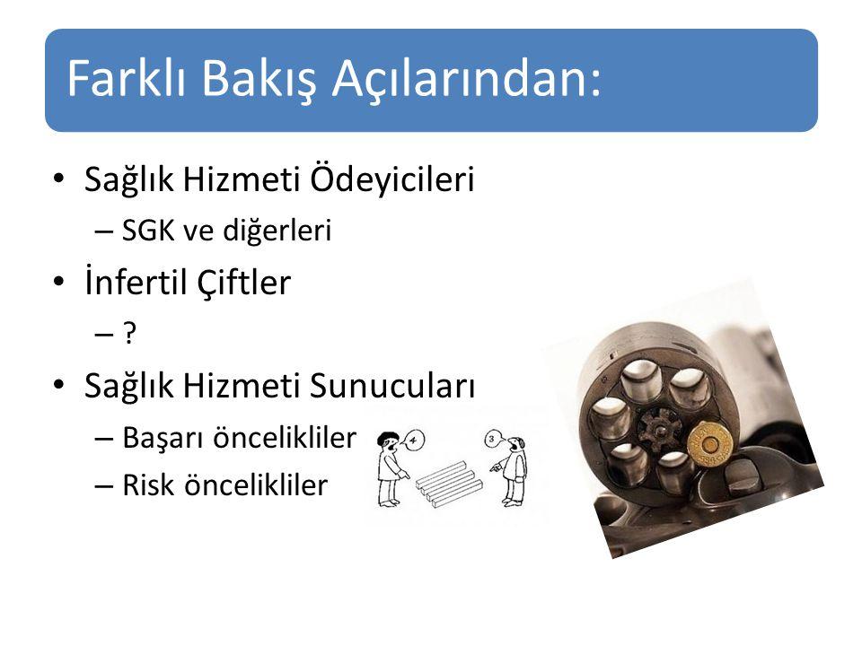 Farklı Bakış Açılarından: Sağlık Hizmeti Ödeyicileri – SGK ve diğerleri İnfertil Çiftler – .