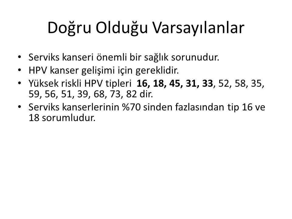 HPV Filogenetik Ağaç De Villiers EM et all.Classification of Papillomaviruses.Virology.2004;324:17- 27