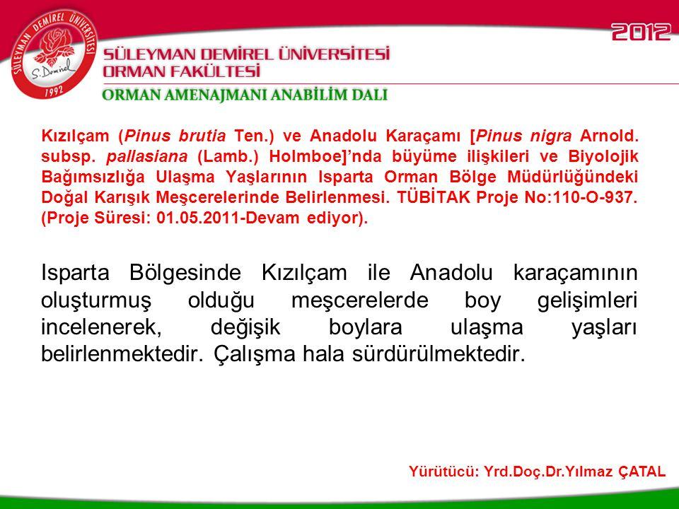 Kent Ağaçları Bilgi Sistemi Modeli.TÜBİTAK Proje No:110-Y-301.