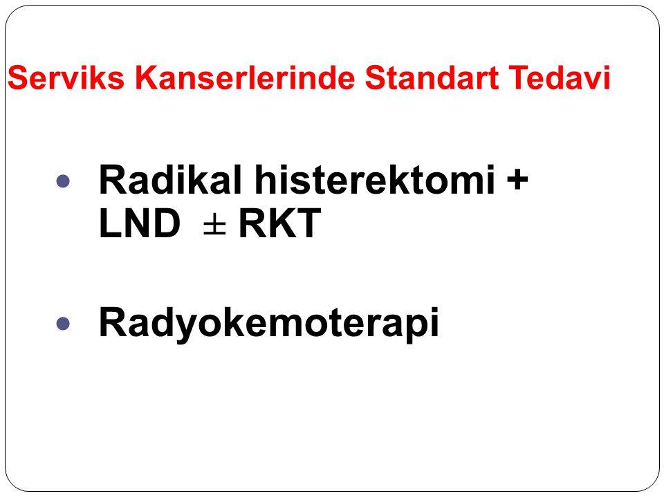 Serviks Kanserlerinde Standart Tedavi Radikal histerektomi + LND ± RKT Radyokemoterapi