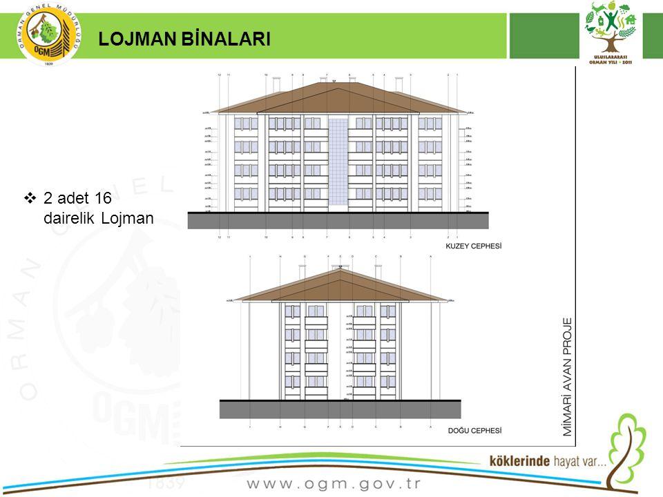 16/12/2010 Kurumsal Kimlik 18 LOJMAN BİNALARI  2 adet 16 dairelik Lojman