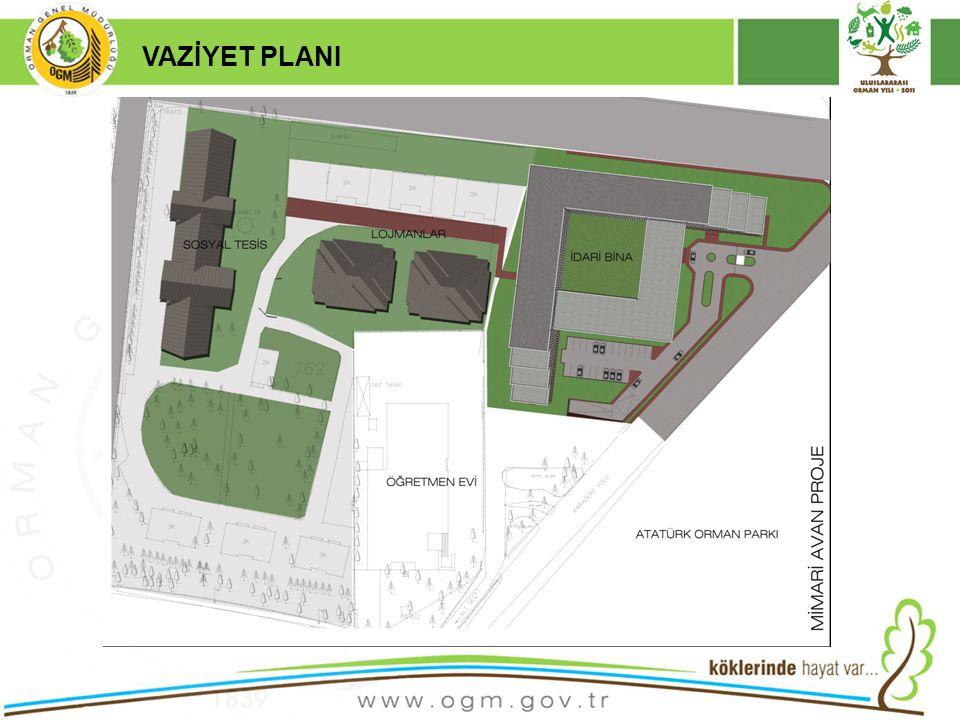 16/12/2010 Kurumsal Kimlik 6 VAZİYET PLANI  1 adet Sosyal Tesis  33 adet Lojman Binası bulunmaktadır.
