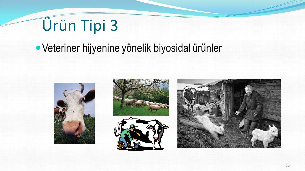 Ürün Tipi 3 Veteriner hijyenine yönelik biyosidal ürünler 20