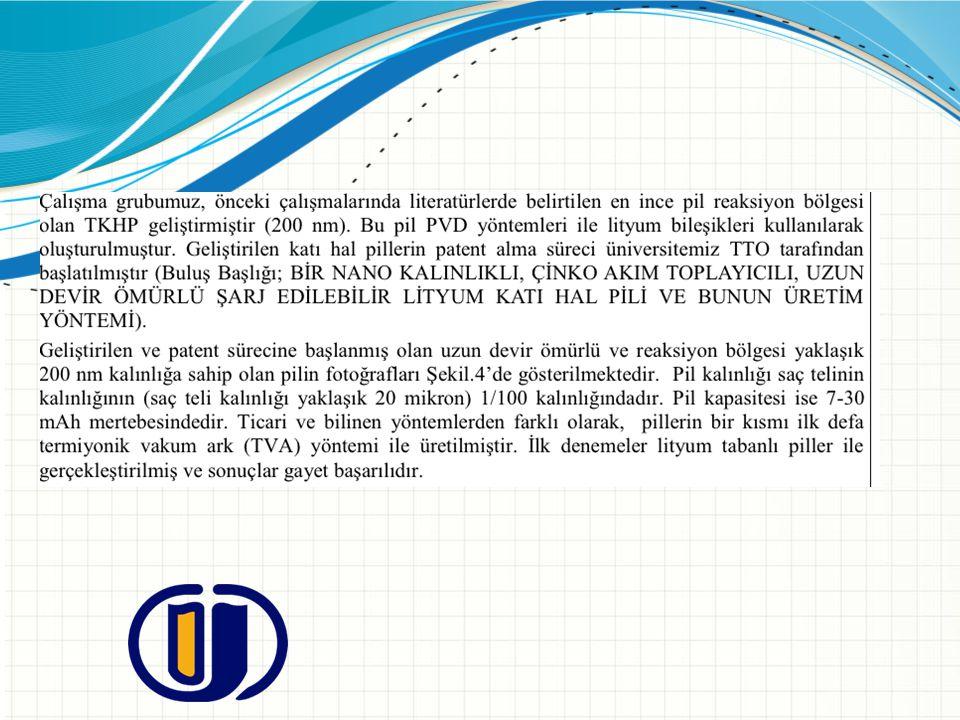 Katı hal pil patent sıralaması; 1- Panasoic (49 patent) 2-Univ Fudan (23 patent), 3- Samsung group (21 patent) 4- Front edge technology inc (14 patent) 5-LG group (13 patent) 6- Hitachi LTD (13 patent) 7- Sony group (11 patent) 8- Ulvac group (10 patent) 9-Korea Inst of Science &Techno (10 patent) 11- Sharp Corp (9 patent) 12- Semiconductor energy Lab Co LTD (9 patent) 13- Seiko Epson Corp (8 patent) 14- Infinite power solution inc (8 patent)
