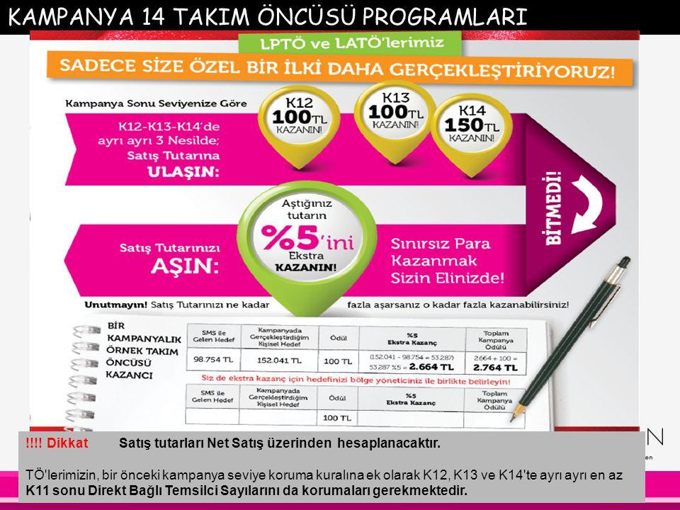 KAMPANYA 14 TAKIM ÖNCÜSÜ PROGRAMLARI !!!.