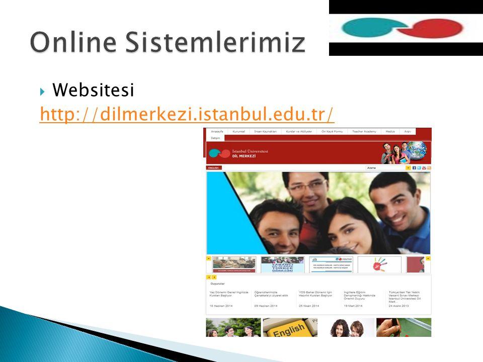  Websitesi http://dilmerkezi.istanbul.edu.tr/