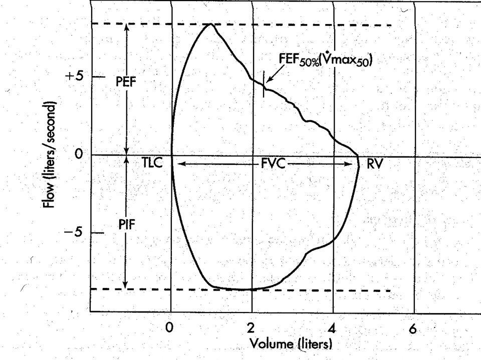 Özellikle çapı 2 mm'den küçük periferik hava yollarının fonksiyonlarının değerlendirilmesinde önem taşır. Bireye FVC manevrası yaptırılır, bu esnada h