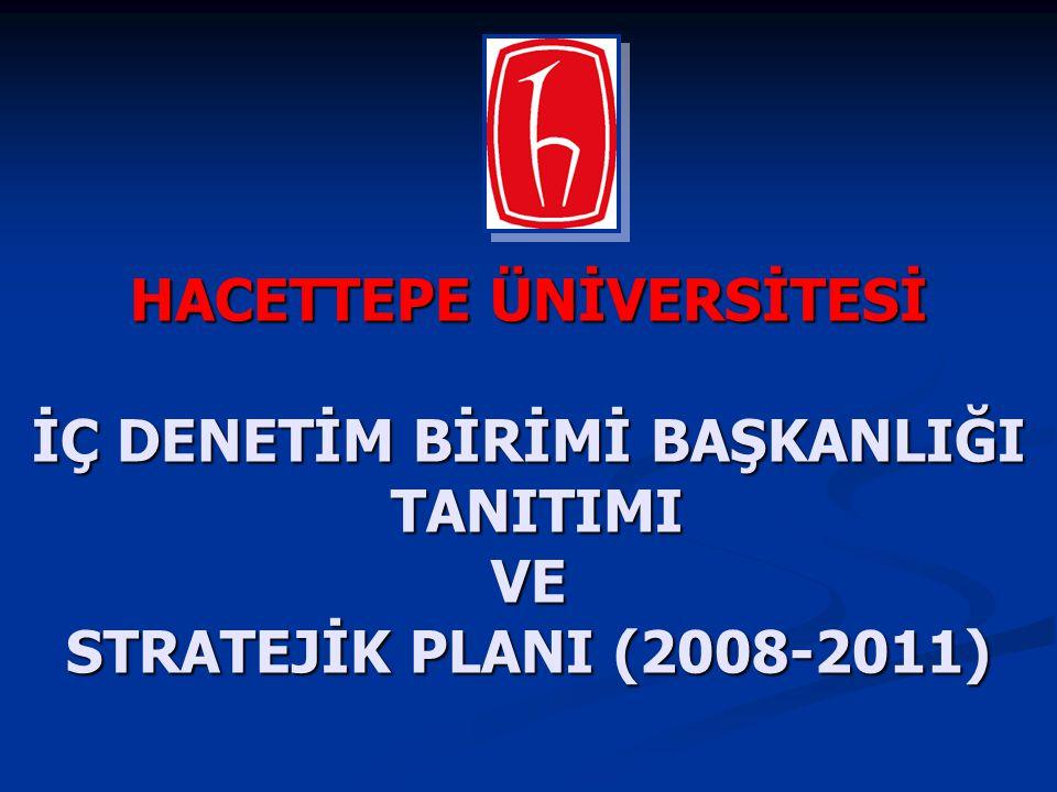 HACETTEPE ÜNİVERSİTESİ İÇ DENETİM BİRİMİ BAŞKANLIĞI TANITIMI TANITIMIVE STRATEJİK PLANI (2008-2011)
