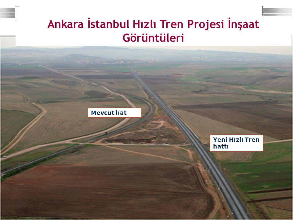 Strateji Geliştirme Başkanlığı 19 Ankara İstanbul Hızlı Tren Projesi İnşaat Görüntüleri Yeni Hızlı Tren hattı Mevcut hat
