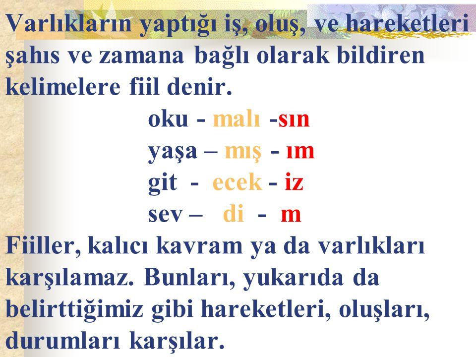 7) Hangi cümlenin yükleminde şimdiki zaman,gelecek zaman yerine kullanılmıştır.