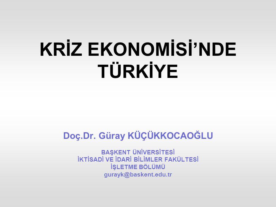 KRİZ EKONOMİSİ'NDE TÜRKİYE Doç.Dr.