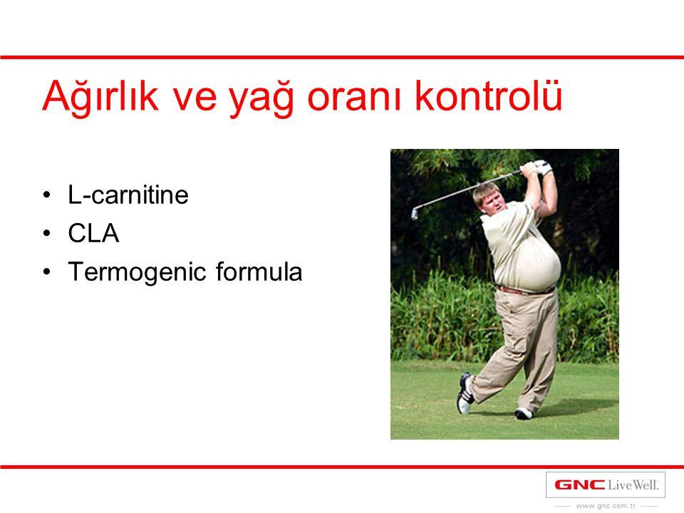 Ağırlık ve yağ oranı kontrolü L-carnitine CLA Termogenic formula