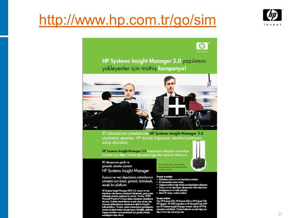 37 http://www.hp.com.tr/go/sim