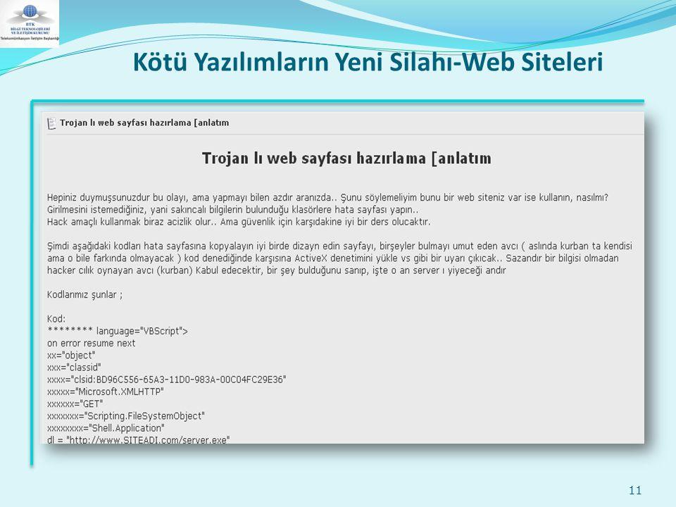 Kötü Yazılımların Yeni Silahı-Web Siteleri 11
