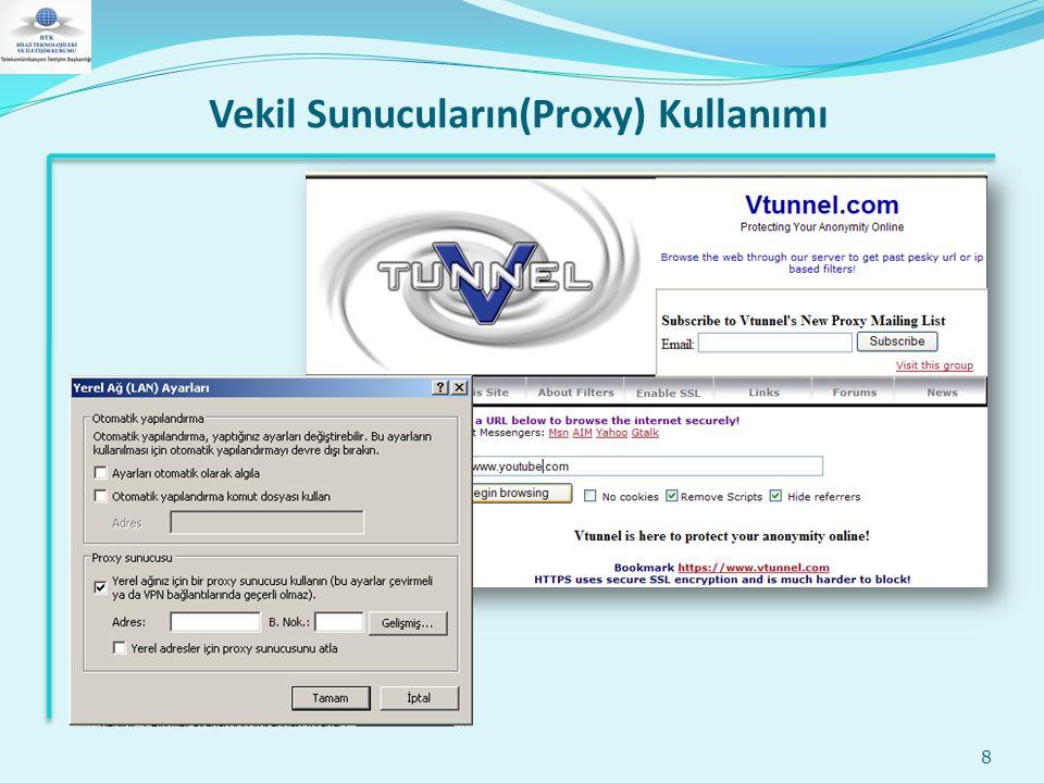 Vekil Sunucuların(Proxy) Kullanımı 8