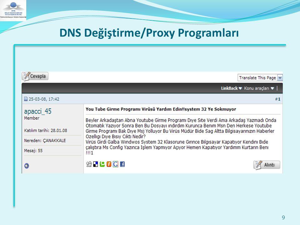 DNS Değiştirme/Proxy Programları 9