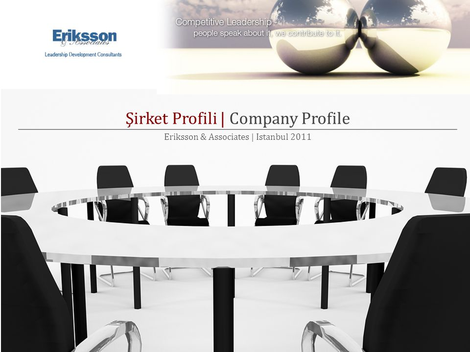Şirket Profili | Company Profile Eriksson & Associates | Istanbul 2011