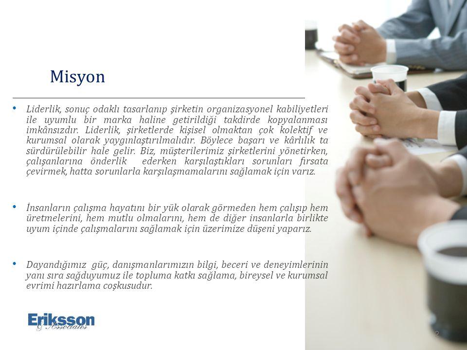 3 Eriksson & Associates ERIKSSON & Associates İsviçre Merkezli, ulusal ve uluslararası planda fonksiyonel iş birimleri halinde çözüm üreten yönetim danışmanlarından oluşan bir değişim ekibidir.