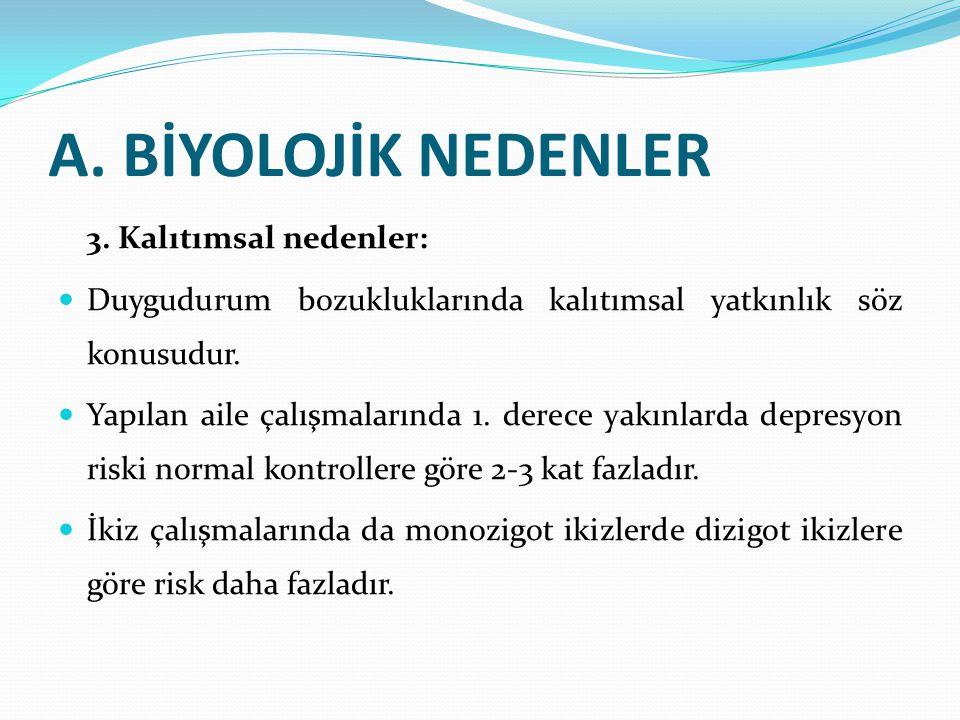 A.BİYOLOJİK NEDENLER 3.