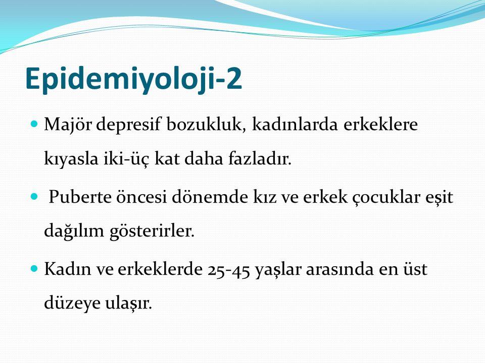DEPRESYONDA KLİNİK ÖZELLİKLER 2.