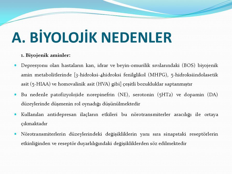A.BİYOLOJİK NEDENLER 1.
