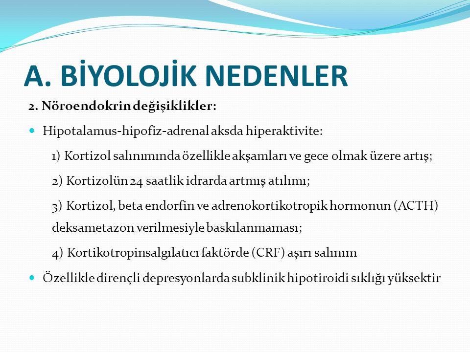 A.BİYOLOJİK NEDENLER 2.