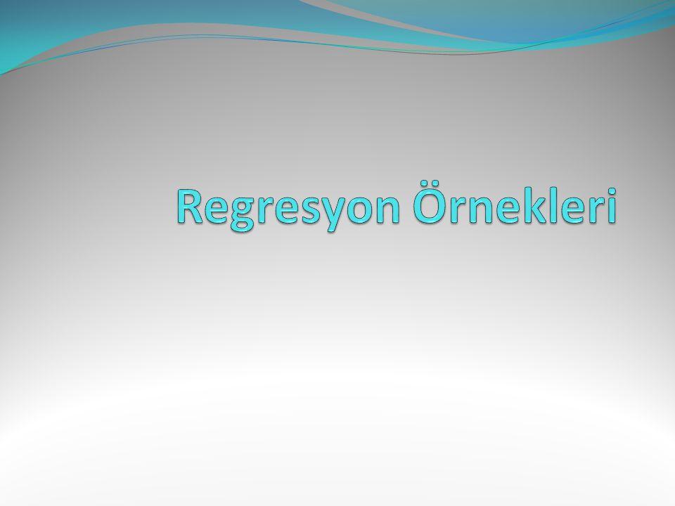 Regresyonun amacı elinizdeki deney ölçüm sonuçlarını en iyi temsil edecek eğriyi uydurmaktır.