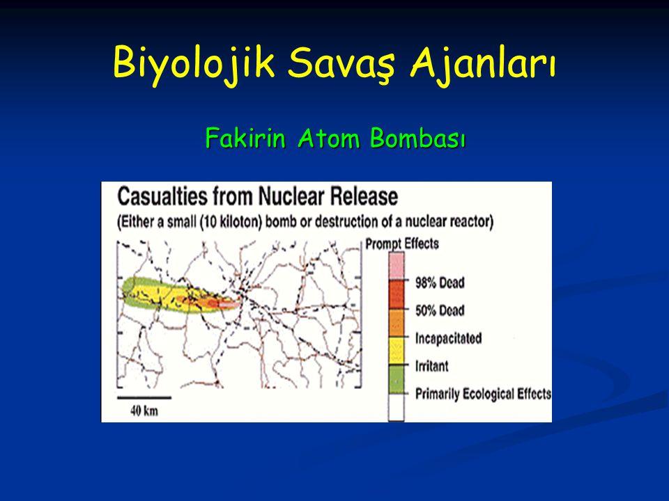 Biyolojik Savaş Ajanları Fakirin Atom Bombası