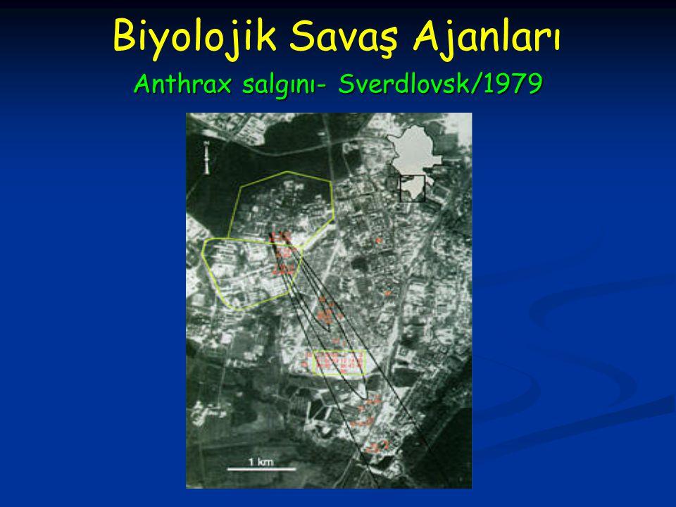 Anthrax salgını- Sverdlovsk/1979 Biyolojik Savaş Ajanları