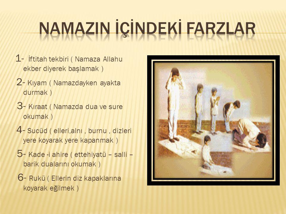  3, Rekat  Besmele  Fatiha suresi  Rukü  Secdeler  Son oturuş  Ettehiyatü, salli – barik  Rabbena duaları  selam