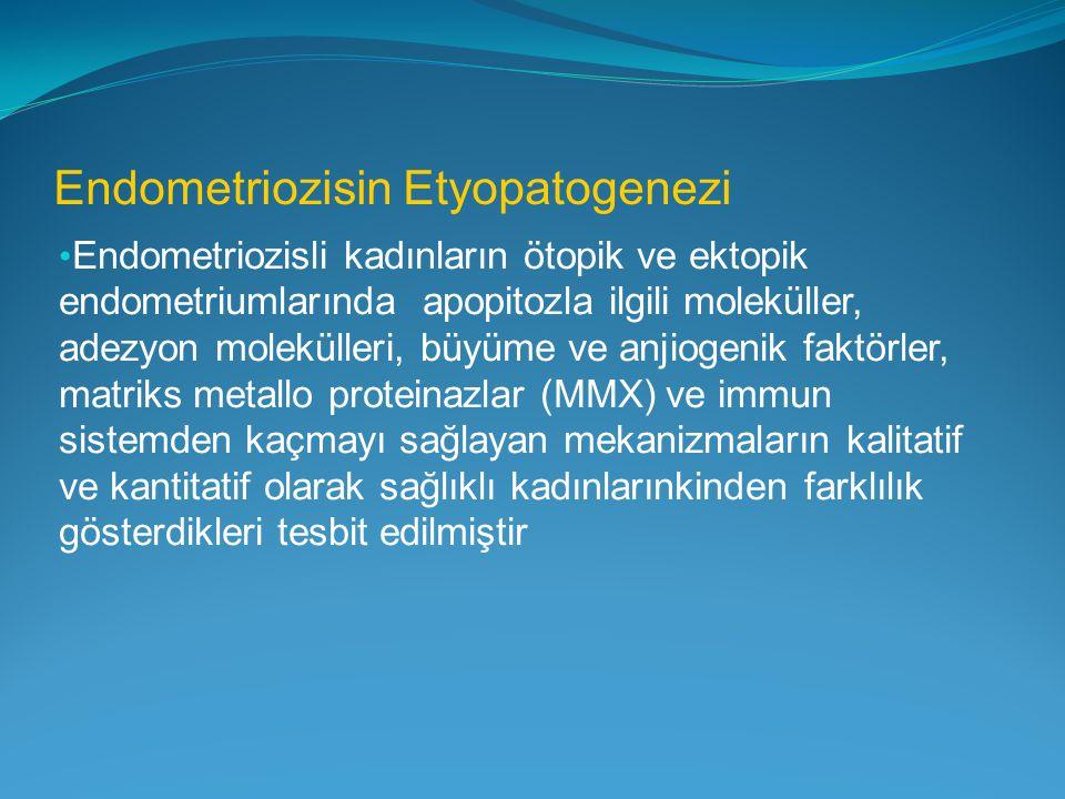 Endometriozisin Etyopatogenezi Endometriozisli kadınların ötopik ve ektopik endometriumlarında apopitozla ilgili moleküller, adezyon molekülleri, büyü