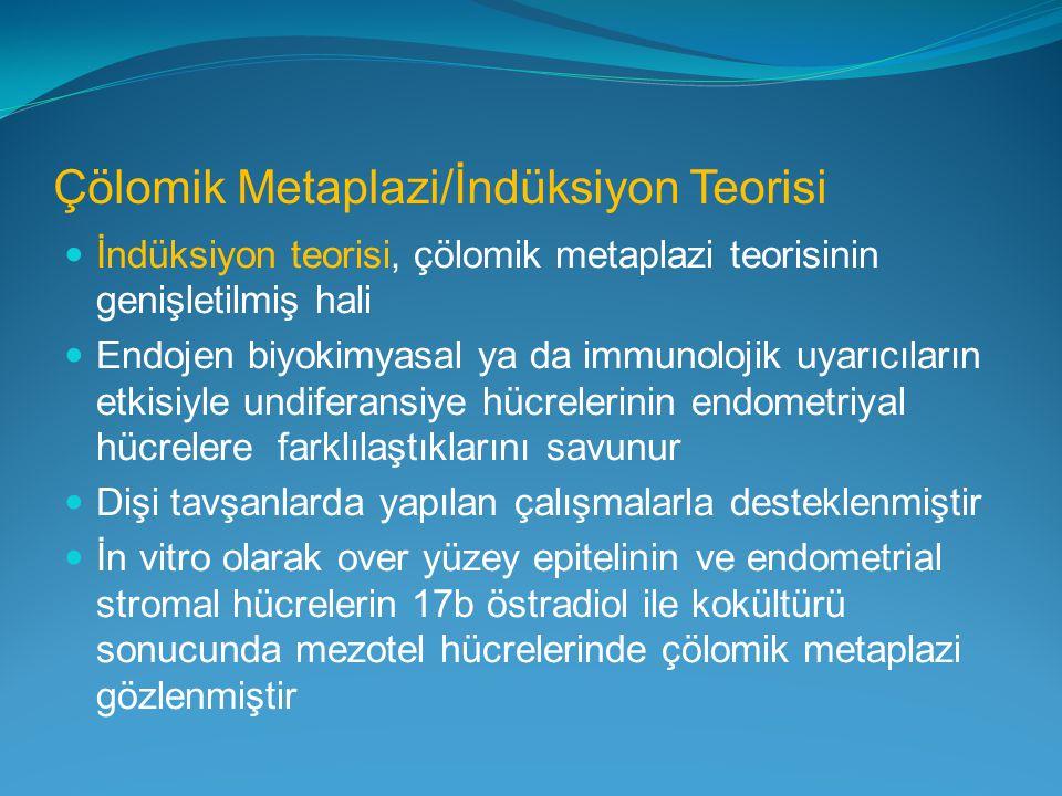 Çölomik Metaplazi/İndüksiyon Teorisi İndüksiyon teorisi, çölomik metaplazi teorisinin genişletilmiş hali Endojen biyokimyasal ya da immunolojik uyarıc
