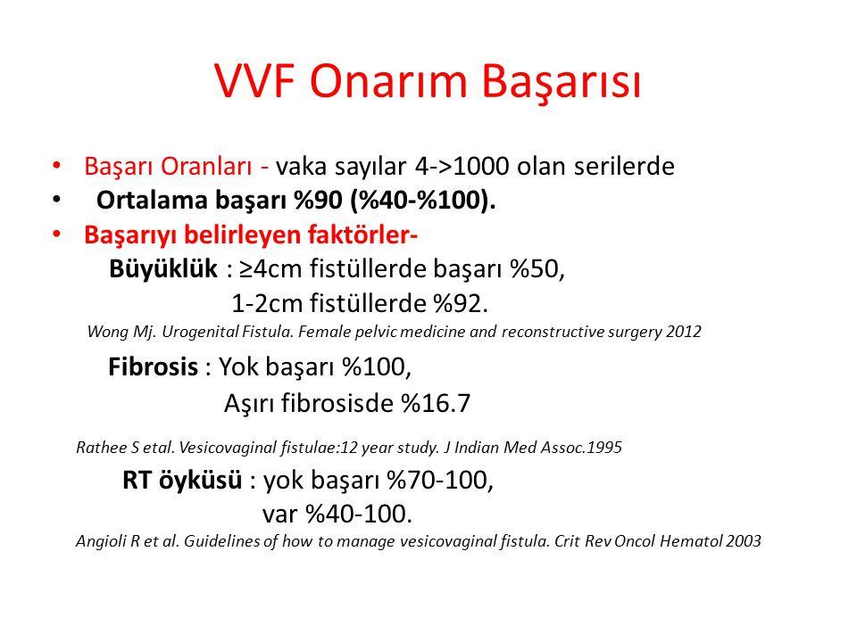 VVF Onarımda hangi cerrahi teknik daha başarılı.