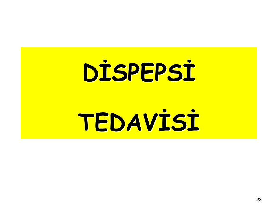 22 DİSPEPSİ TEDAVİSİ
