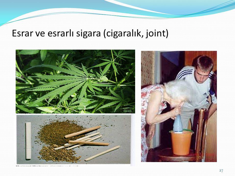 Esrar ve esrarlı sigara (cigaralık, joint) 27
