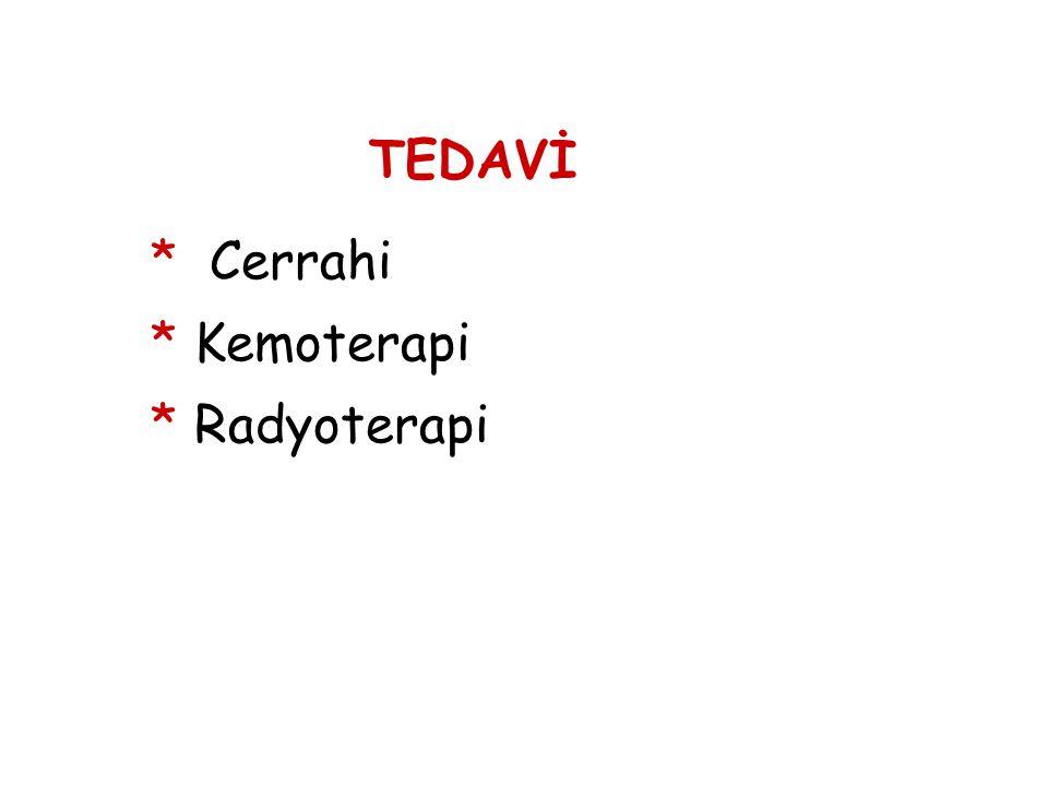 TEDAVİ * Cerrahi * Kemoterapi * Radyoterapi