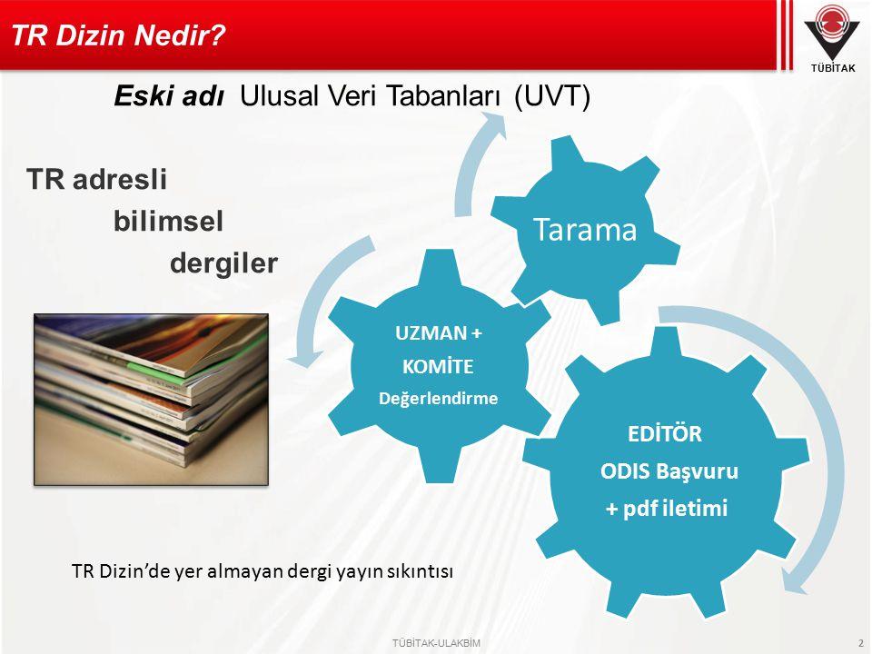 TÜBİTAK TÜBİTAK-ULAKBİM 23 Elektronik ortamda taranması ve dizinlenmesinin yanısıra yayına hazırlanmasında editörlere katkı sağlar o Seçimi önemli mi.