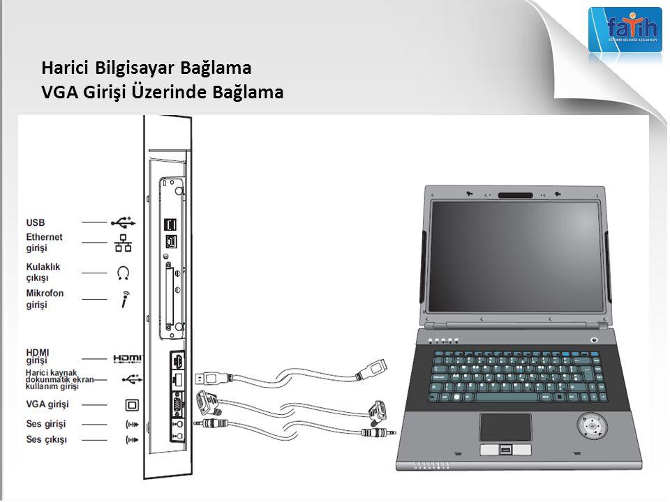 Harici Bilgisayar Bağlama VGA Girişi Üzerinde Bağlama