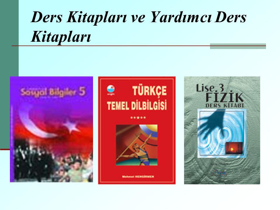 Ders Kitapları ve Yardımcı Ders Kitapları