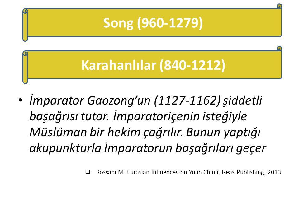 İmparator Gaozong'un (1127-1162) şiddetli başağrısı tutar. İmparatoriçenin isteğiyle Müslüman bir hekim çağrılır. Bunun yaptığı akupunkturla İmparator