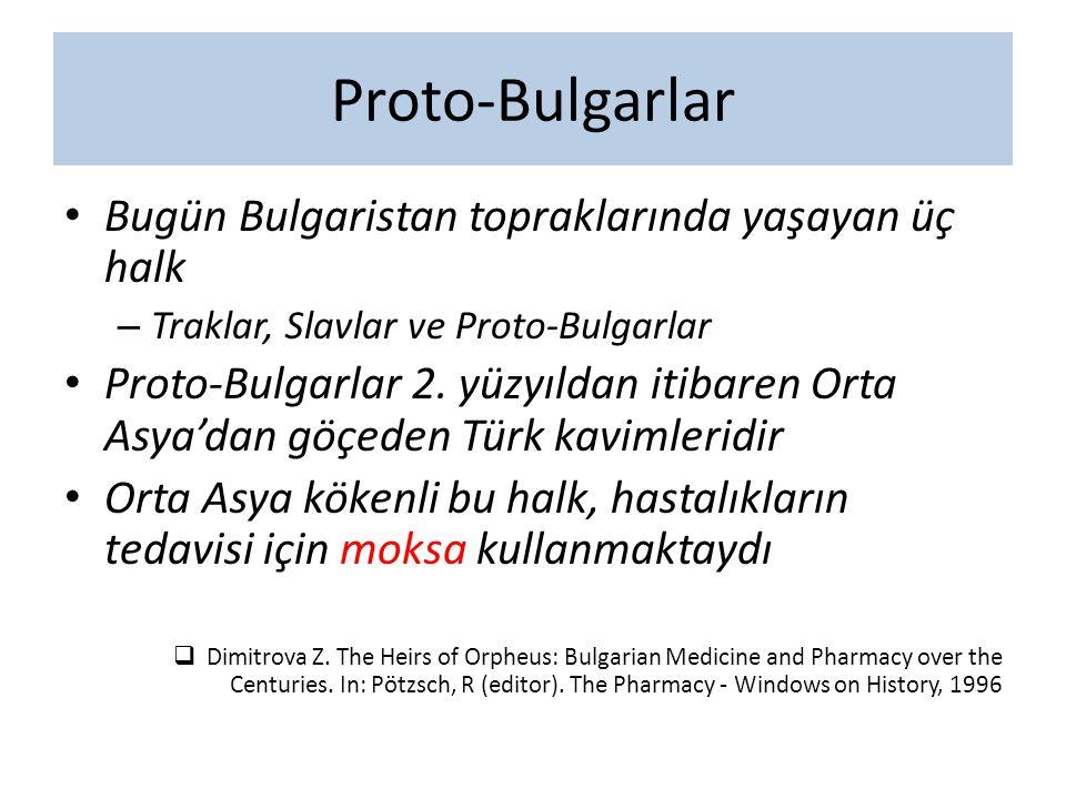 Proto-Bulgarlar Bugün Bulgaristan topraklarında yaşayan üç halk – Traklar, Slavlar ve Proto-Bulgarlar Proto-Bulgarlar 2. yüzyıldan itibaren Orta Asya'
