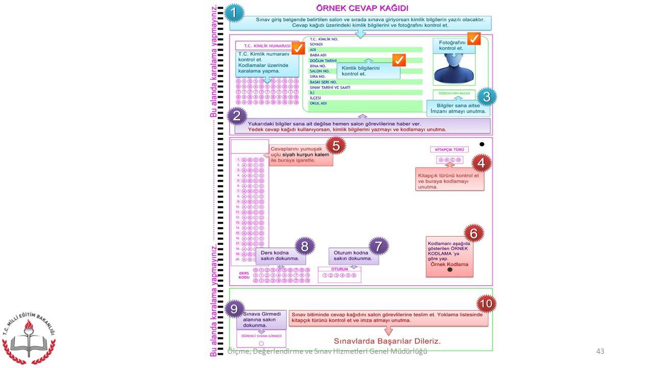 43Ölçme, Değerlendirme ve Sınav Hizmetleri Genel Müdürlüğü