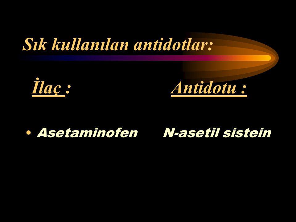 3) Antidot verilmesi : Spesifik antidotlar, belirli toksinleri çeşitli biyokimyasal yollarla zararsız hale getiren maddelerdir. Bu maddeler, toksinler