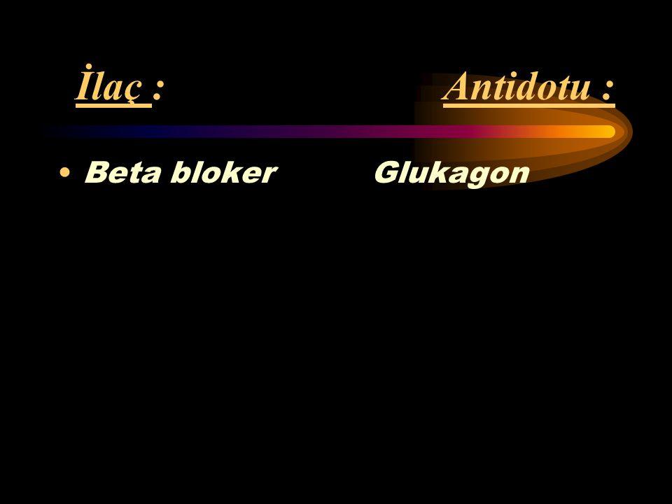 İlaç : Antidotu : İzoniazid Piridoksin