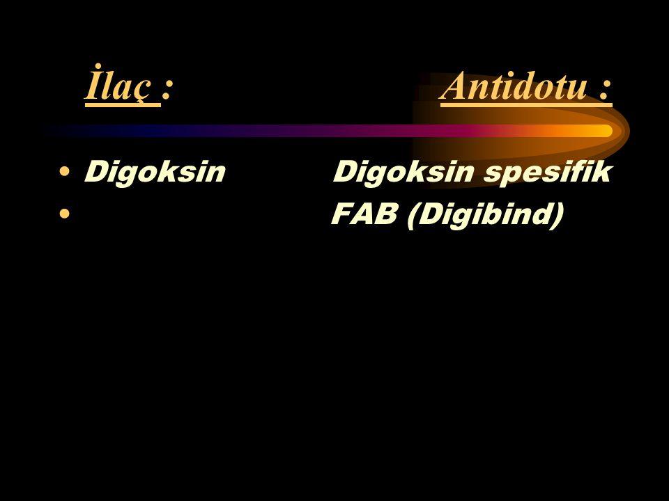 İlaç : Antidotu : Oral Diazoksid hipoglisemikler